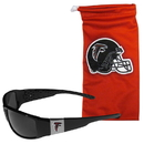 Siskiyou Buckle Atlanta Falcons Chrome Wrap Sunglasses and Bag, 2FCP070EB