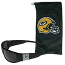 Siskiyou Buckle Green Bay Packers Chrome Wrap Sunglasses and Bag, 2FCP115EB