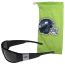 Siskiyou Buckle Seattle Seahawks Chrome Wrap Sunglasses and Bag, 2FCP155EB