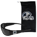 Siskiyou Buckle Carolina Panthers Chrome Wrap Sunglasses and Bag, 2FCP170EB