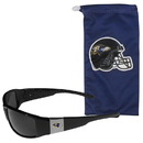 Siskiyou Buckle Baltimore Ravens Chrome Wrap Sunglasses and Bag, 2FCP180EB