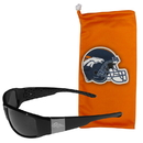 Siskiyou Buckle Denver Broncos Etched Chrome Wrap Sunglasses and Bag, 2FCW020EB