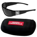 Siskiyou Buckle Arizona Cardinals Chrome Wrap Sunglasses and Zippered Carrying Case, 2FCW035HC