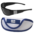 Siskiyou Buckle Indianapolis Colts Chrome Wrap Sunglasses and Sports Case, 2FCW050SC