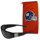 Siskiyou Buckle New York Giants Etched Chrome Wrap Sunglasses and Bag, 2FCW090EB