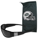 Siskiyou Buckle New York Jets Etched Chrome Wrap Sunglasses and Bag, 2FCW100EB