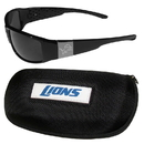 Siskiyou Buckle Detroit Lions Chrome Wrap Sunglasses and Zippered Carrying Case, 2FCW105HC
