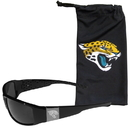 Siskiyou Buckle Jacksonville Jaguars Etched Chrome Wrap Sunglasses and Bag, 2FCW175EB