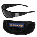 Siskiyou Buckle Baltimore Ravens Chrome Wrap Sunglasses and Sports Case, 2FCW180SC