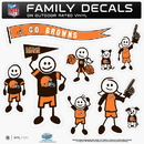 Siskiyou Buckle 2FFLD025 Cleveland Browns Family Decal Set Large