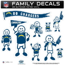 Siskiyou Buckle 2FFLD040 San Diego Chargers Family Decal Set Large