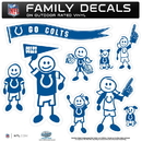 Siskiyou Buckle 2FFLD050 Indianapolis Colts Family Decal Set Large