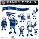 Siskiyou Buckle 2FFLD185 Tennessee Titans Family Decal Set Large