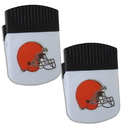 Siskiyou Buckle Cleveland Browns Chip Clip Magnet with Bottle Opener, 2 pack, 2FPMC025