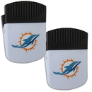 Siskiyou Buckle Miami Dolphins Chip Clip Magnet with Bottle Opener, 2 pack, 2FPMC060