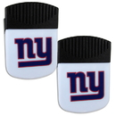 Siskiyou Buckle New York Giants Chip Clip Magnet with Bottle Opener, 2 pack, 2FPMC090