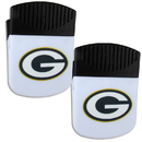 Siskiyou Buckle Green Bay Packers Chip Clip Magnet with Bottle Opener, 2 pack, 2FPMC115