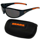 Siskiyou Buckle 2FSG005CH Chicago Bears Wrap Sunglass and Case Set