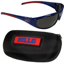 Siskiyou Buckle 2FSG015CH Buffalo Bills Wrap Sunglass and Case Set
