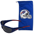 Siskiyou Buckle 2FSG015EB Buffalo Bills Sunglass and Bag Set