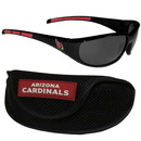 Siskiyou Buckle 2FSG035CS Arizona Cardinals Wrap Sunglass and Case Set