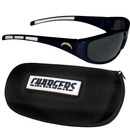 Siskiyou Buckle 2FSG040CH San Diego Chargers Wrap Sunglass and Case Set