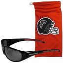 Siskiyou Buckle 2FSG070EB Atlanta Falcons Sunglass and Bag Set