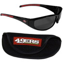 Siskiyou Buckle 2FSG075CS San Francisco 49ers Wrap Sunglass and Case Set