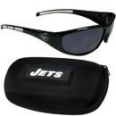 Siskiyou Buckle 2FSG100CH New York Jets Wrap Sunglass and Case Set