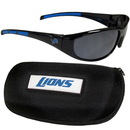 Siskiyou Buckle 2FSG105CH Detroit Lions Wrap Sunglass and Case Set