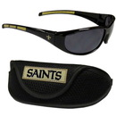 Siskiyou Buckle 2FSG150CS New Orleans Saints Wrap Sunglass and Case Set