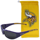 Siskiyou Buckle 2FSG165EB Minnesota Vikings Sunglass and Bag Set