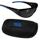 Siskiyou Buckle 2FSG170CH Carolina Panthers Wrap Sunglass and Case Set