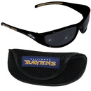 Siskiyou Buckle 2FSG180CS Baltimore Ravens Wrap Sunglass and Case Set