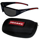 Siskiyou Buckle 2FSG190CH Houston Texans Wrap Sunglass and Case Set