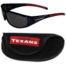 Siskiyou Buckle 2FSG190CS Houston Texans Wrap Sunglass and Case Set