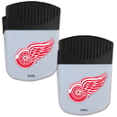 Siskiyou Buckle Detroit Red Wings Chip Clip Magnet with Bottle Opener, 2 pack, 2HPMC110