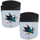 Siskiyou Buckle San Jose Sharks Chip Clip Magnet with Bottle Opener, 2 pack, 2HPMC115