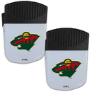 Siskiyou Buckle Minnesota Wild Chip Clip Magnet with Bottle Opener, 2 pack, 2HPMC145