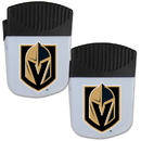 Siskiyou Buckle Vegas Golden Knights Chip Clip Magnet with Bottle Opener, 2 pack, 2HPMC165