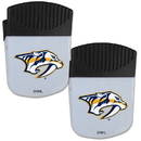 Siskiyou Buckle Nashville Predators Chip Clip Magnet with Bottle Opener, 2 pack, 2HPMC40