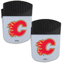 Siskiyou Buckle Calgary Flames Chip Clip Magnet with Bottle Opener, 2 pack, 2HPMC60