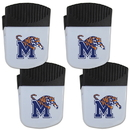 Siskiyou Buckle Memphis Tigers Chip Clip Magnet with Bottle Opener, 4 pack, 4CPMC103