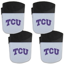Siskiyou Buckle TCU Horned Frogs Chip Clip Magnet with Bottle Opener, 4 pack, 4CPMC112