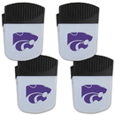 Siskiyou Buckle Kansas St. Wildcats Chip Clip Magnet with Bottle Opener, 4 pack, 4CPMC15