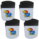 Siskiyou Buckle Kansas Jayhawks Chip Clip Magnet with Bottle Opener, 4 pack, 4CPMC21