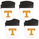 Siskiyou Buckle Tennessee Volunteers Chip Clip Magnet with Bottle Opener, 4 pack, 4CPMC25