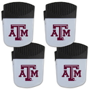 Siskiyou Buckle Texas A & M Aggies Chip Clip Magnet with Bottle Opener, 4 pack, 4CPMC26