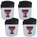 Siskiyou Buckle Texas Tech Raiders Chip Clip Magnet with Bottle Opener, 4 pack, 4CPMC30