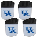 Siskiyou Buckle Kentucky Wildcats Chip Clip Magnet with Bottle Opener, 4 pack, 4CPMC35